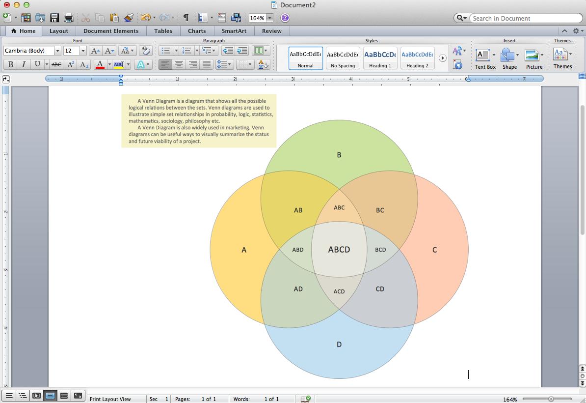 How To Make A Venn Diagram On Word Venn Diagram Template For Word