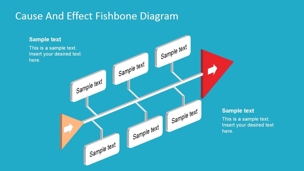 Ishikawa Diagram Template Fishbone Diagram Template 3d Perspective