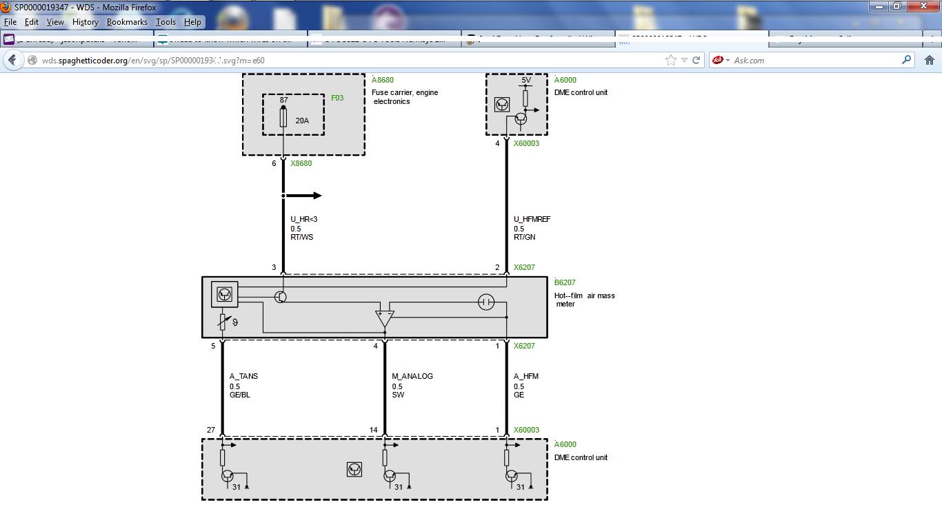 Mass Air Flow Sensor Wiring Diagram 94 Bmw Maf Sensor Wire Diagram Wiring Diagram Img
