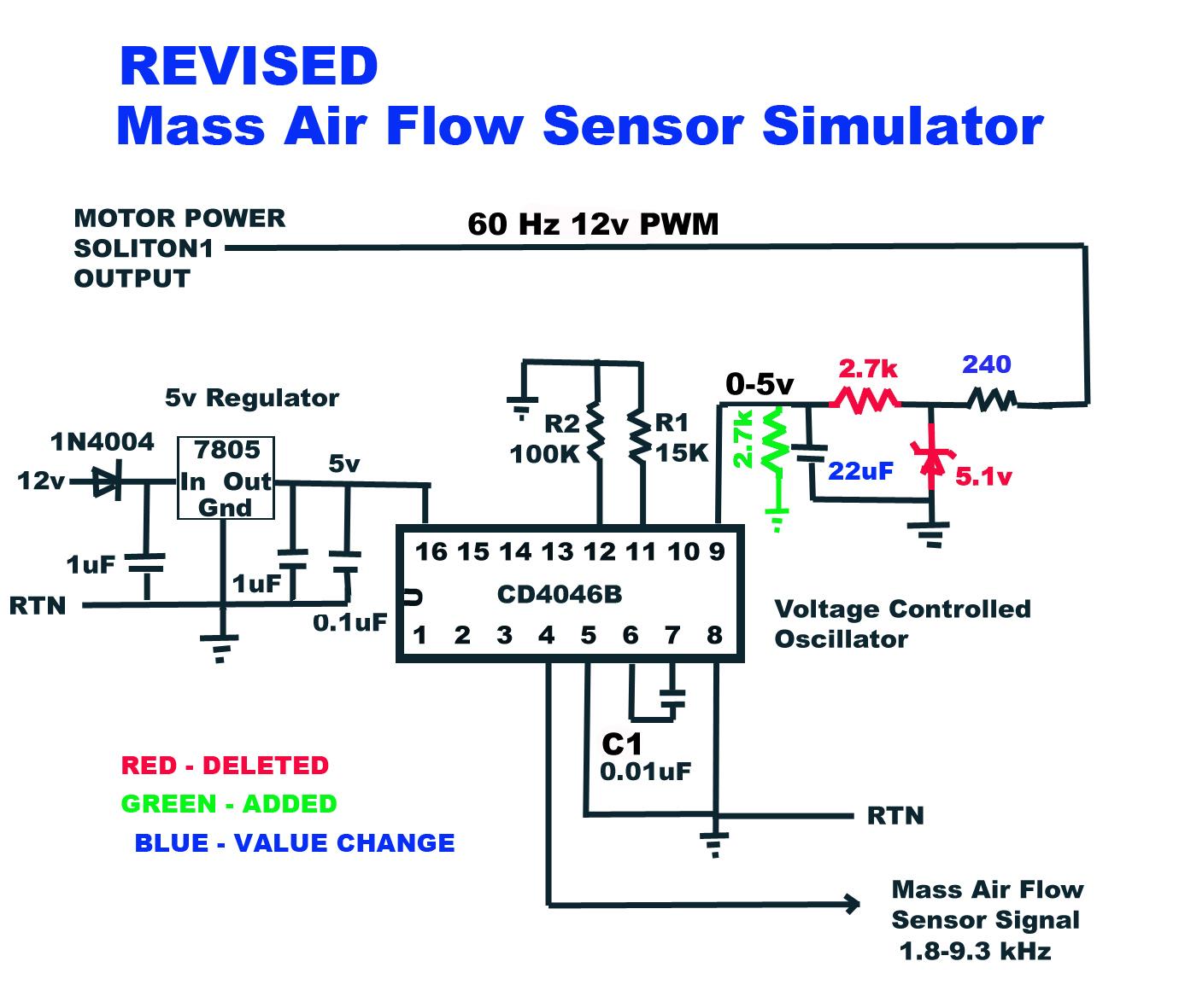 Mass Air Flow Sensor Wiring Diagram Map Sensor Schematic Wiring Diagram