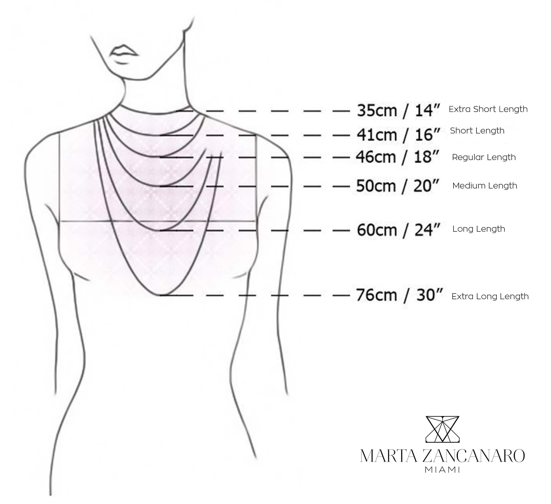 Necklace Length Diagram Abnara Rhodium Plated Clear Crystal Rectangular Regular Length Necklace