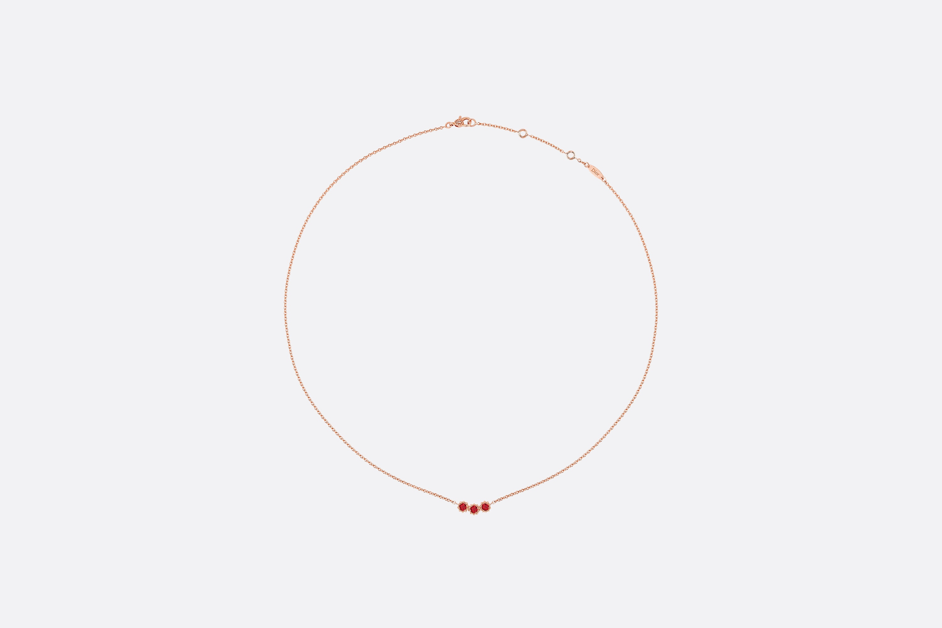 Necklace Length Diagram Mimirose Necklace 18k Pink Gold And Rubies
