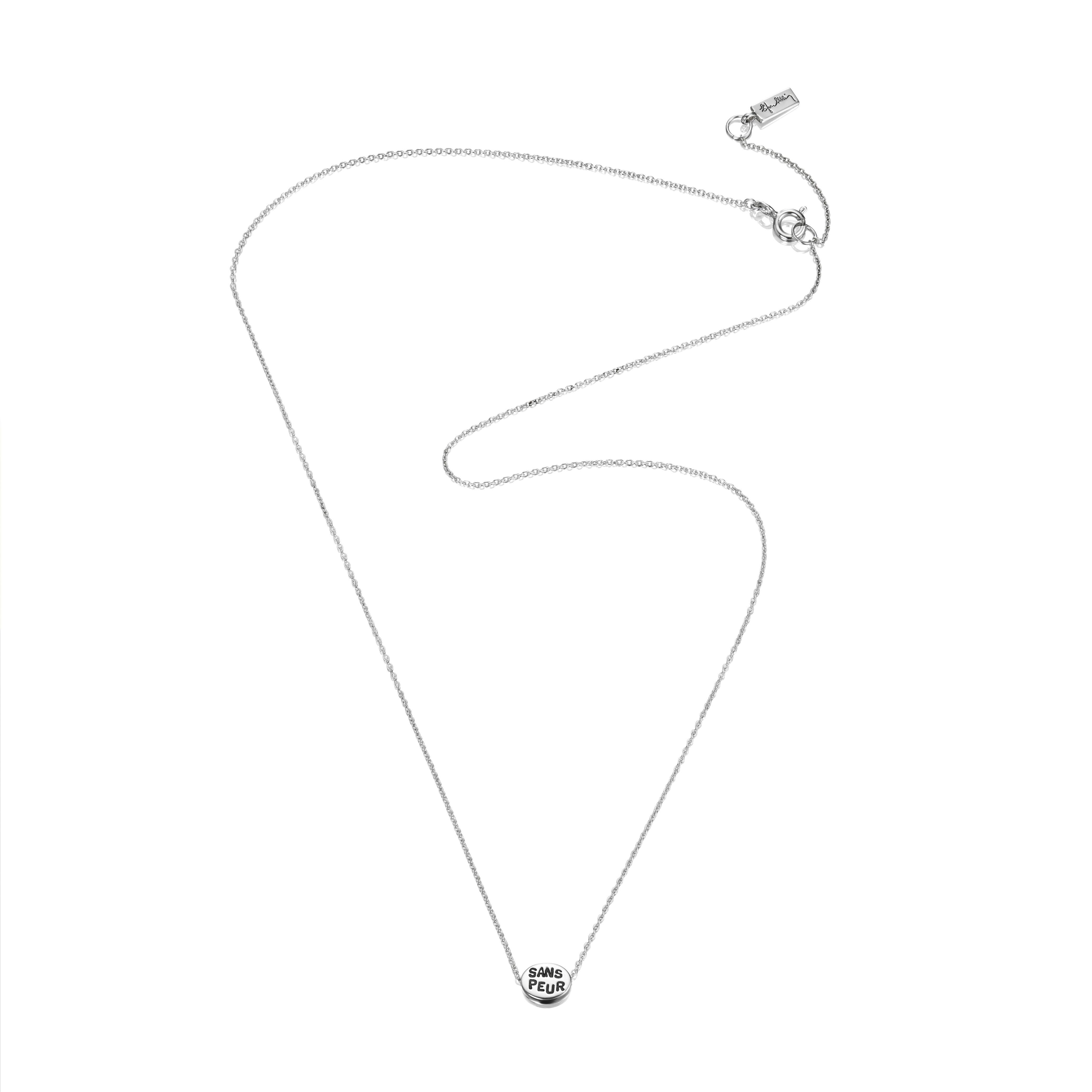 Necklace Length Diagram Mini Me Sans Peur Necklace