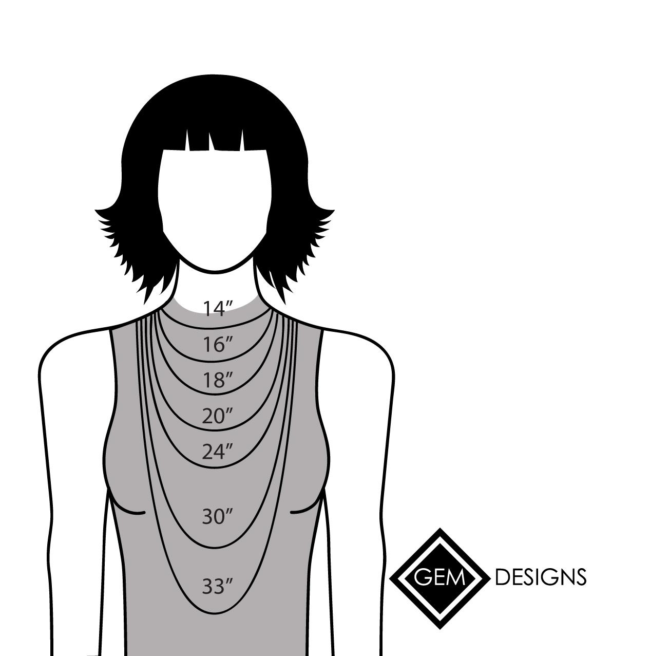 Necklace Length Diagram Necklace Diagram