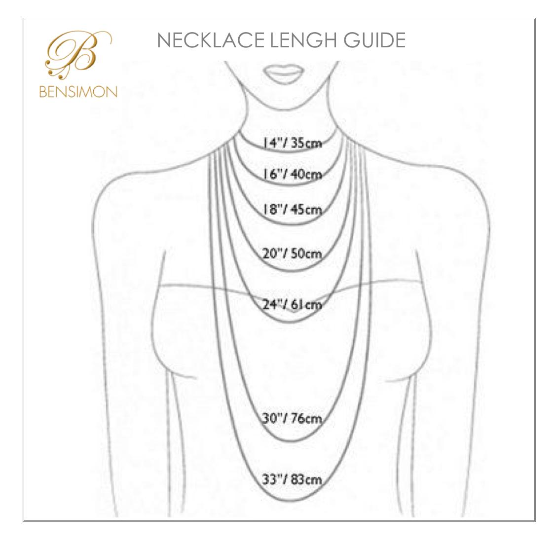 Necklace Length Diagram Necklace Length Guide Bensimonboutique2018