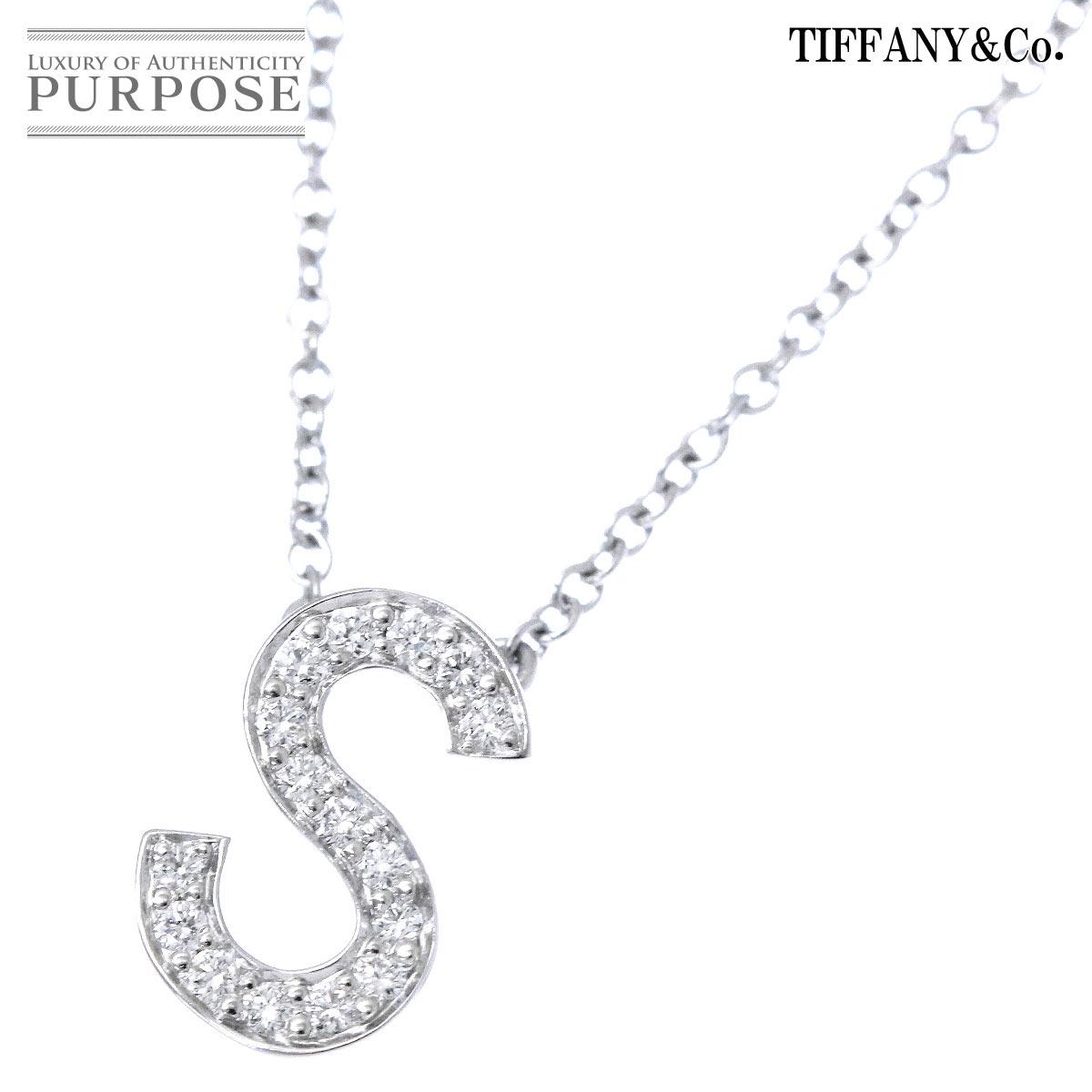 Necklace Length Diagram Tiffany Diamond Initial S Necklace Pt950 41cm Platinum Diagram Tiffanyco