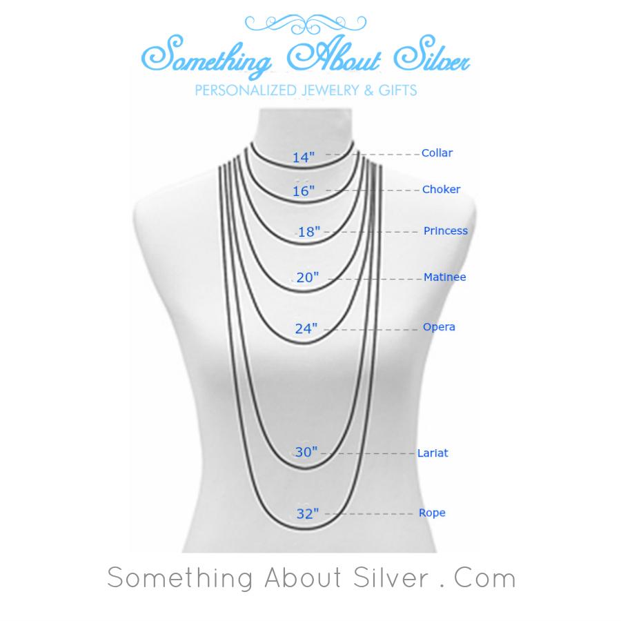 Necklace Length Diagram Womens Necklace Length La Necklace