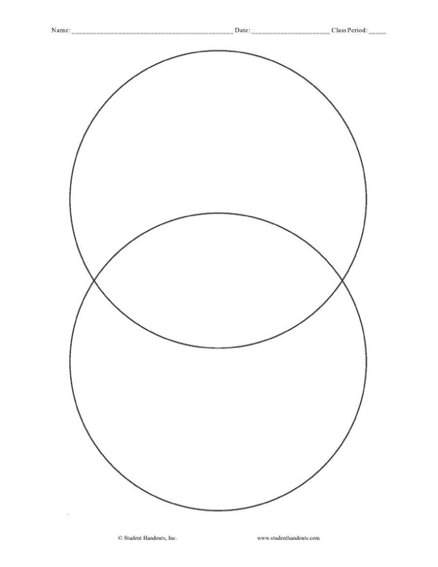 Printable Venn Diagram Free Printable Venn Diagram Prnt