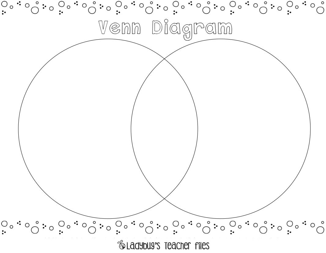 Printable Venn Diagram Venn Diagram Printable Ladybugs Teacher Files
