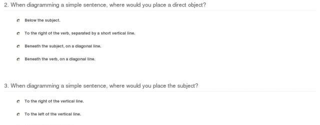 Sentence Diagramming Practice Quiz Worksheet Diagramming Sentences Study