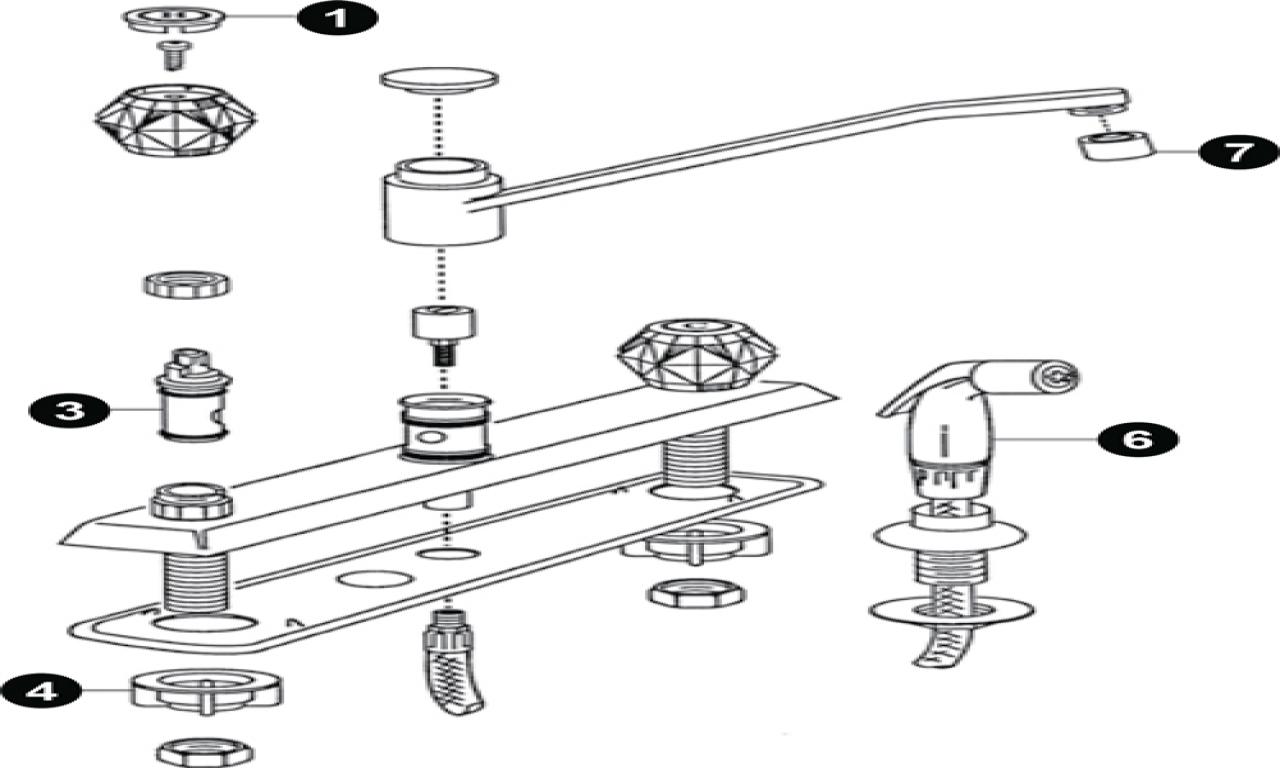 Sink Plumbing Diagram Sink Pipe Diagram American Standard Faucets Kitchen Repair Light