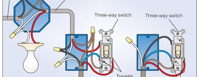 Three Way Switch Diagram How To Wire A 3 Way Light Switch Family Handyman