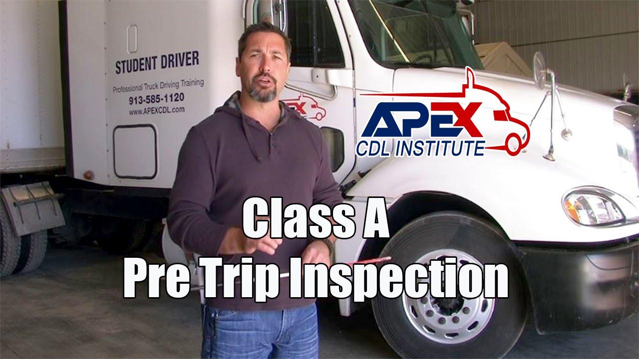 Tractor Trailer Pre Trip Inspection Diagram How To Perform A Class A Cdl Pre Trip Inspection