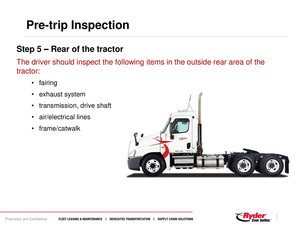 Tractor Trailer Pre Trip Inspection Diagram Pre Post Trip Inspections Ppt Download