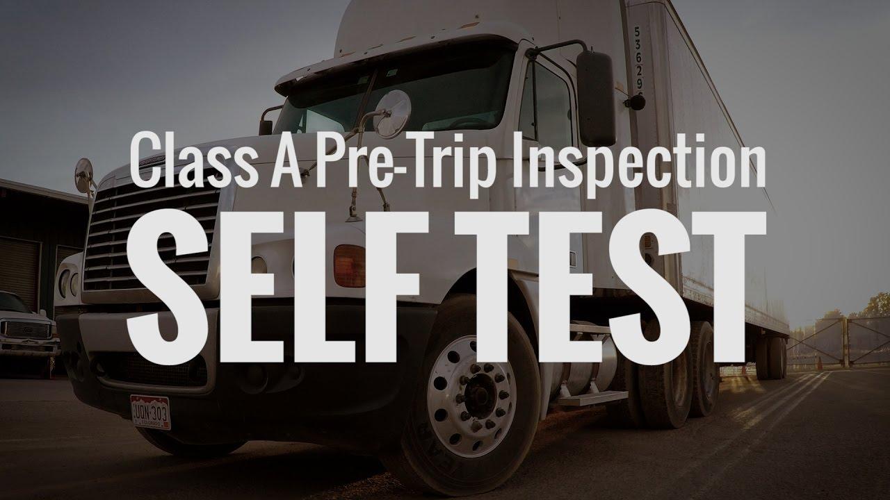 Tractor Trailer Pre Trip Inspection Diagram Pretrip Inspection Self Test Cdl College
