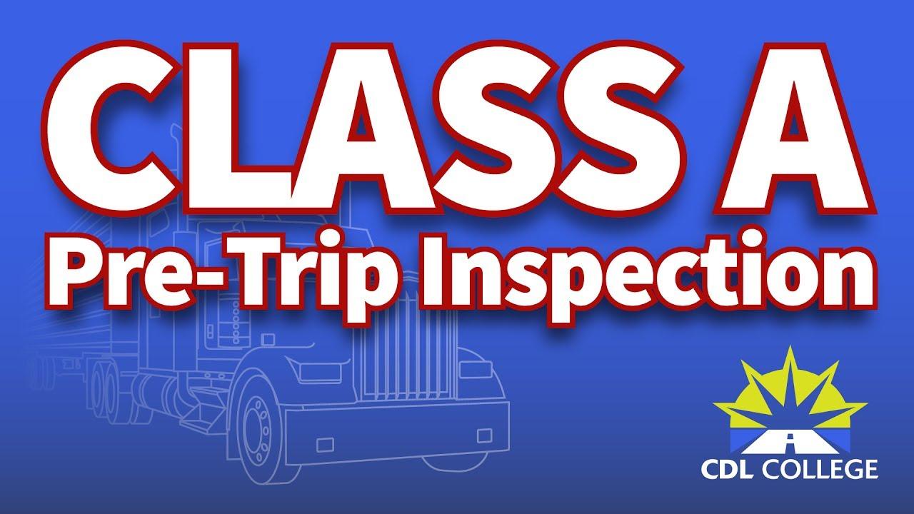 Tractor Trailer Pre Trip Inspection Diagram Tutorial Cdl Class A Pre Trip Inspection Demo