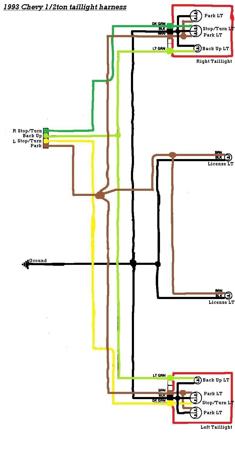 Trailer Light Wiring Diagram 96 Chevy Tail Light Wiring Harness Wiring Diagram Bookmark