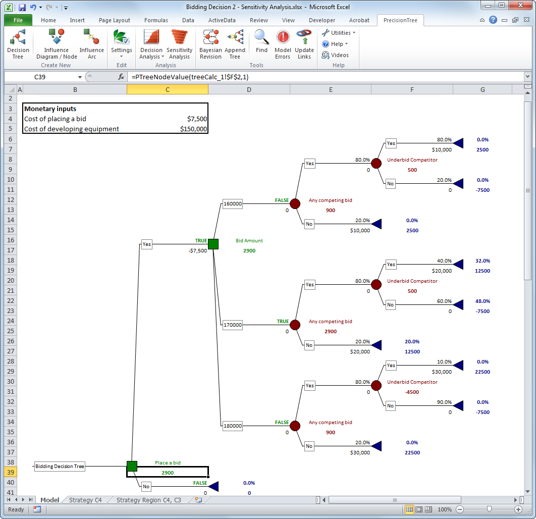 Tree Diagram Definition Math Precisiontree Decision Trees For Microsoft Excel Palisade