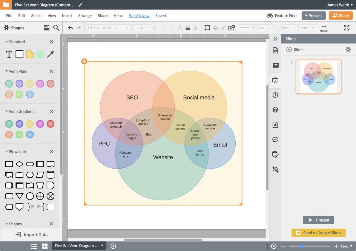 Venn Diagram Maker Diagram Maker Lucidchart