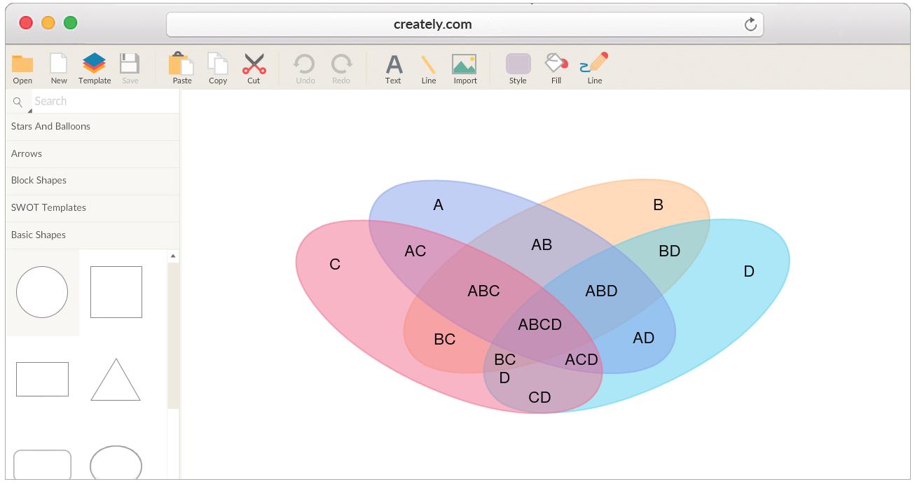 Venn Diagram Maker Draw Venn Diagrams Online Easily With Worksheet Templates