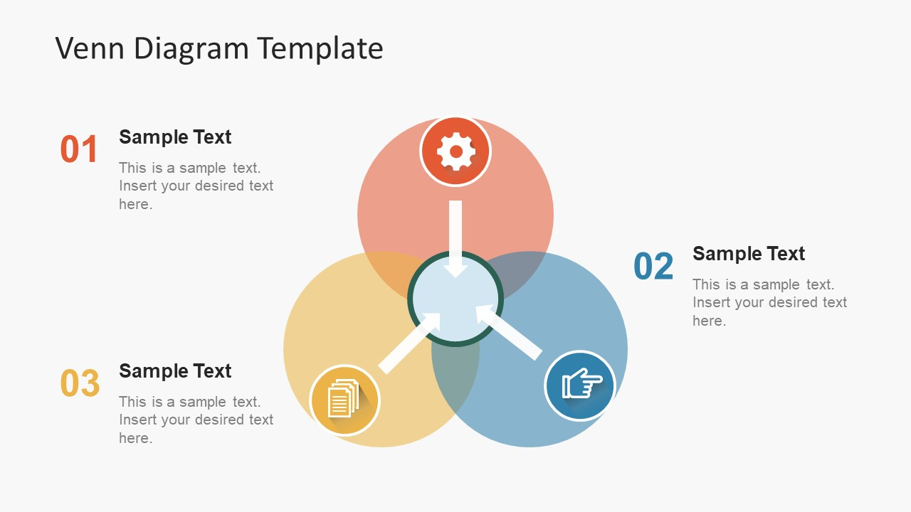 Venn Diagram Template Simple Flat Venn Diagram Powerpoint Template