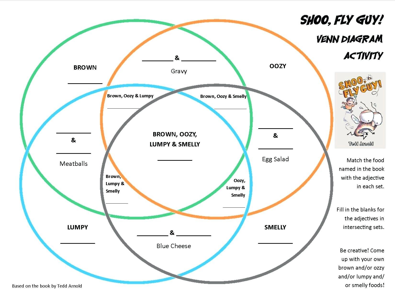 Venn Diagram Worksheet How To Read A Venn Diagram Math Shoo Fly Guy Diagram Reading Venn