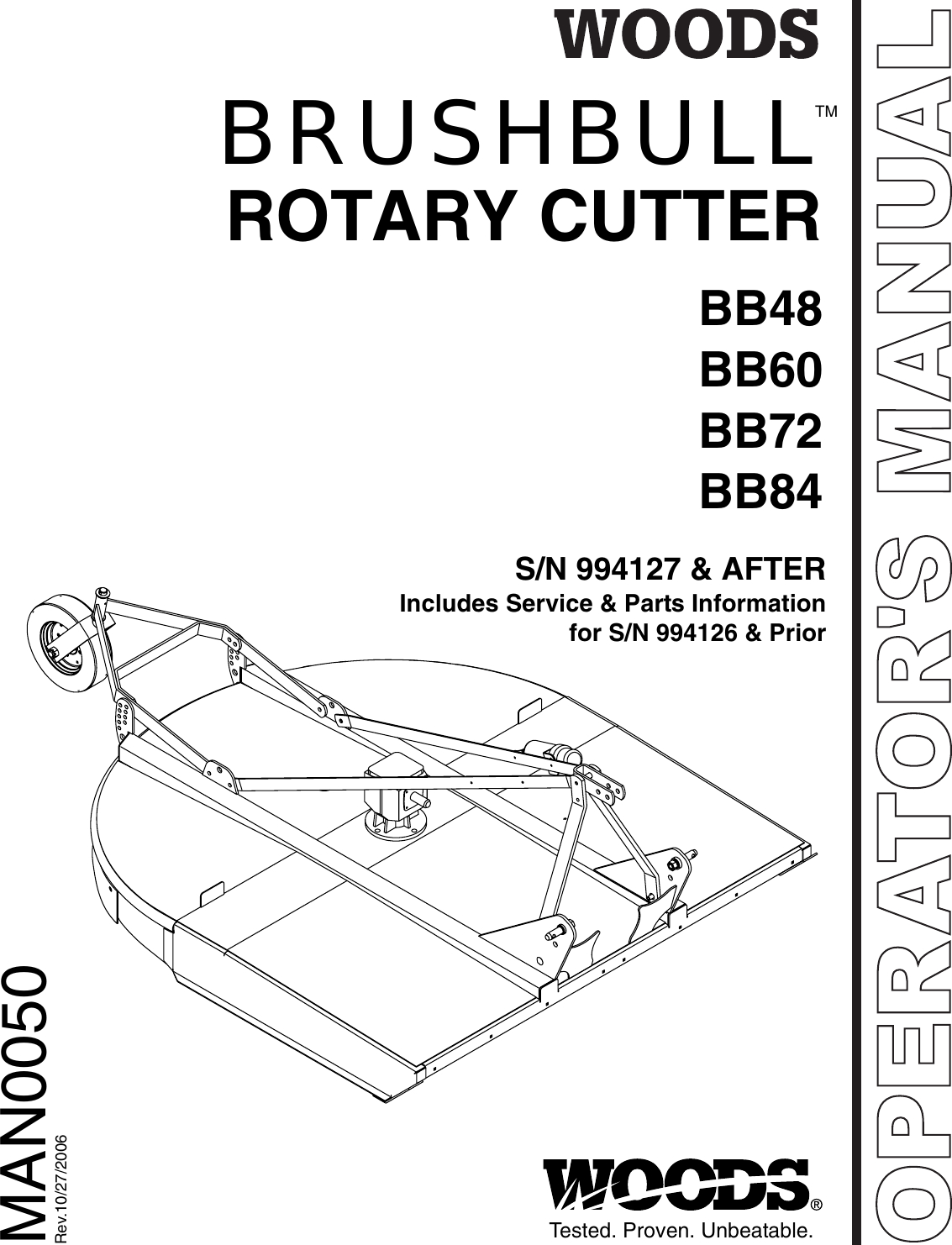 Woods Mower Parts Diagrams Brushbull Rotary Cutter Bb48 Bb60 Bb72 And Bb84 Woods