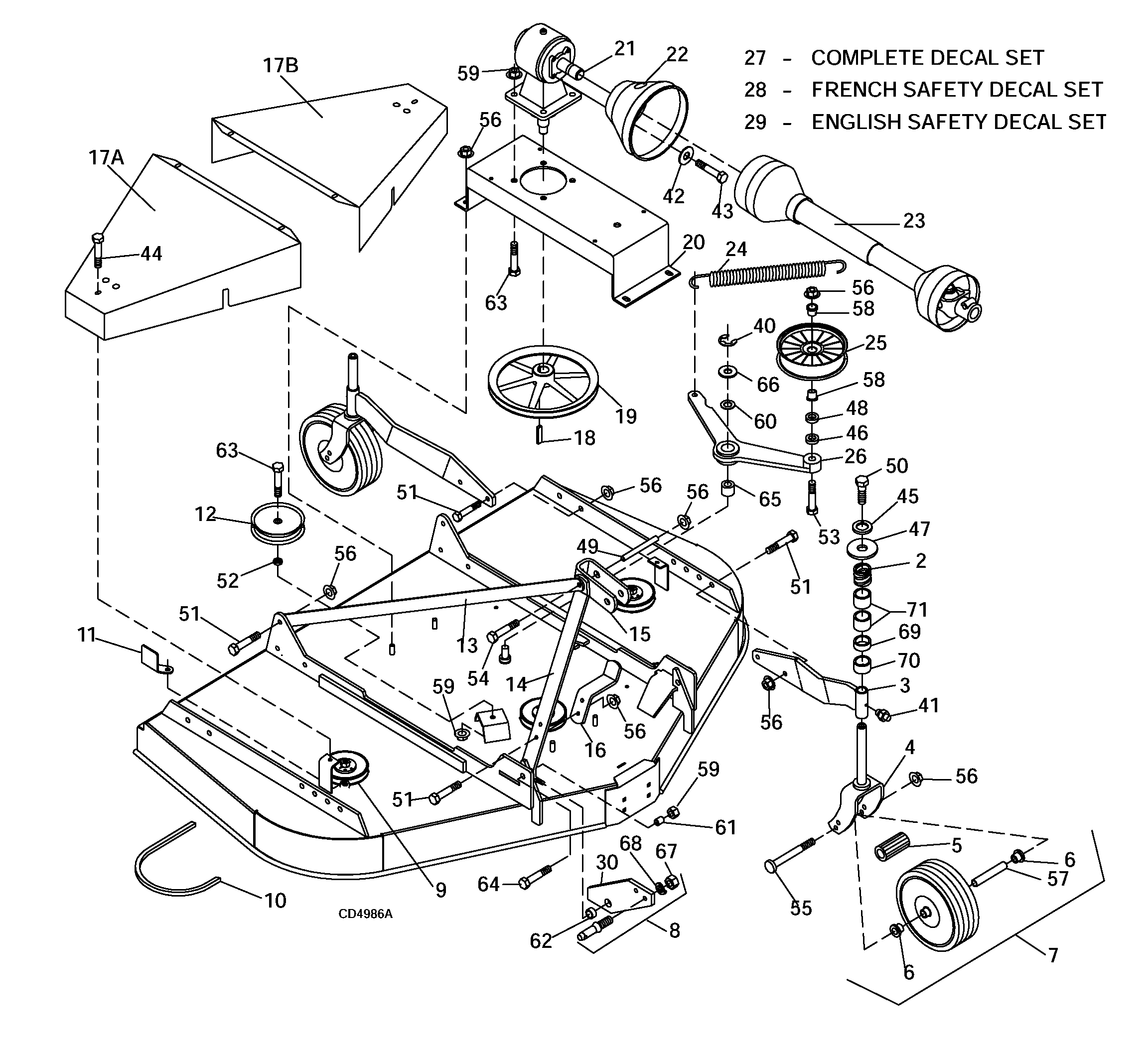 Woods Mower Parts Diagrams Woods Rd6000 Sn 688691 After Rearmount Finish Mower Main Frame