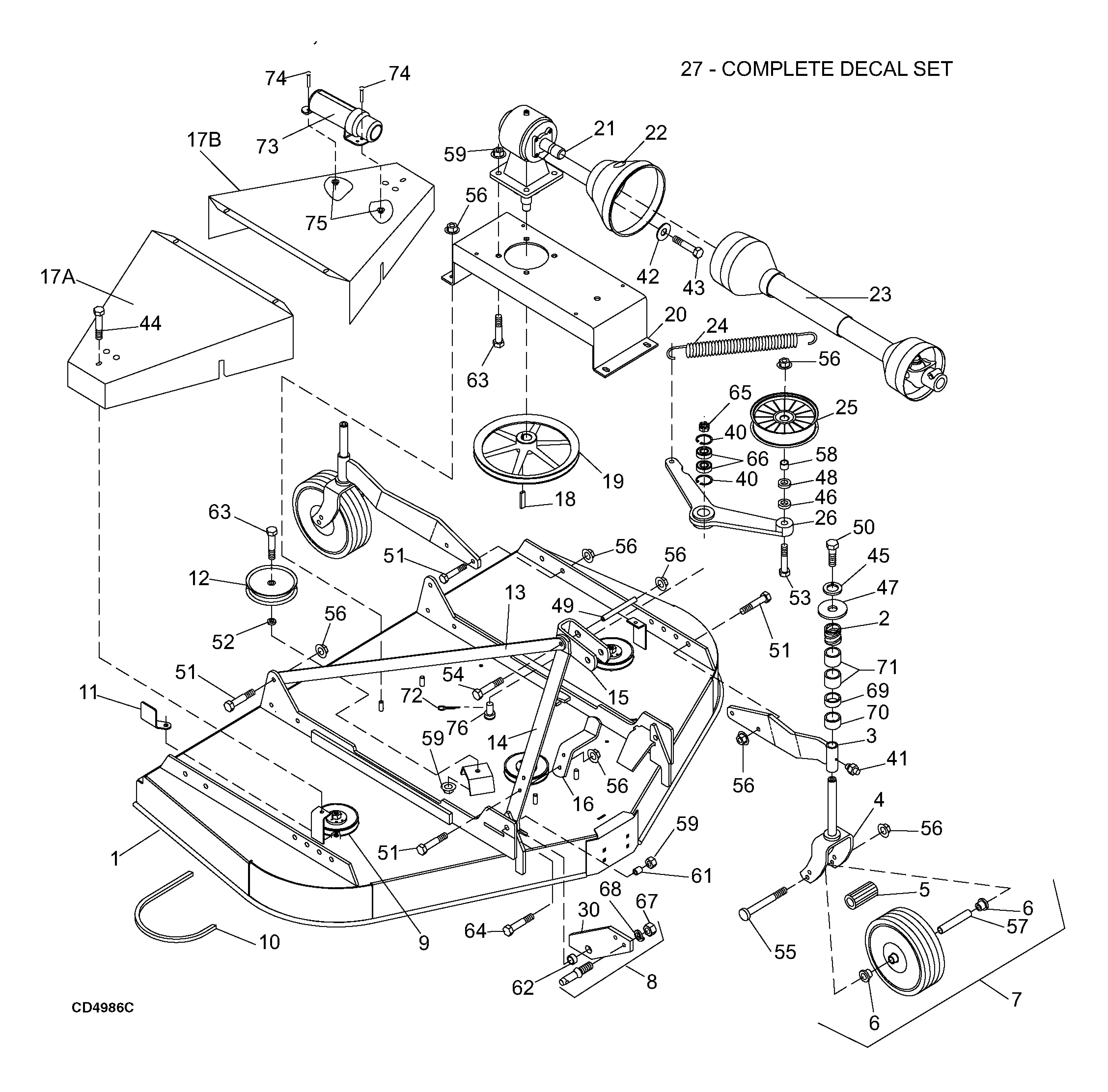 Woods Mower Parts Diagrams Woods Rd8400 2 Rearmount Finish Mower Main Frame Assembly Parts And