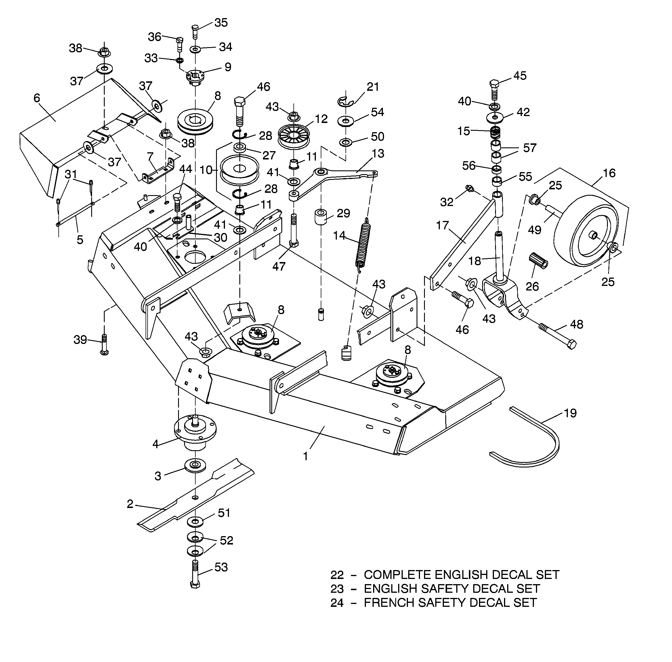 Woods Mower Parts Diagrams Woods Rm660 Rearmount Finish Mower Main Frame Assembly Sn 2500 And